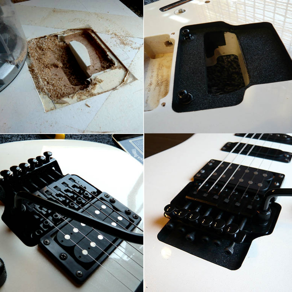 Floyd Rose floating tremolo installation