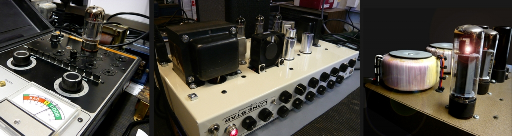 amplifier servicing. valve tester, Mesa Lone Star amp & Dave Parker custom audio valve amplifier