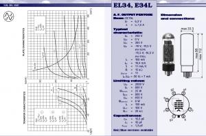 EL34 JJ Tesla guitar amplifier valve specifications