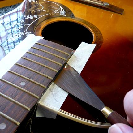 Acoustic neck reset: