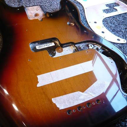 Fender Precision pickup install: