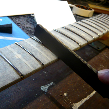 Crowning the frets: