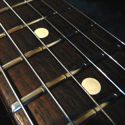 Polishing the frets: