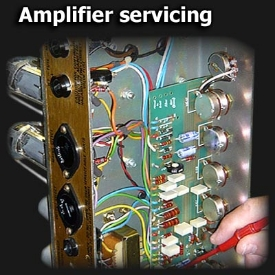 Amplifier servicing