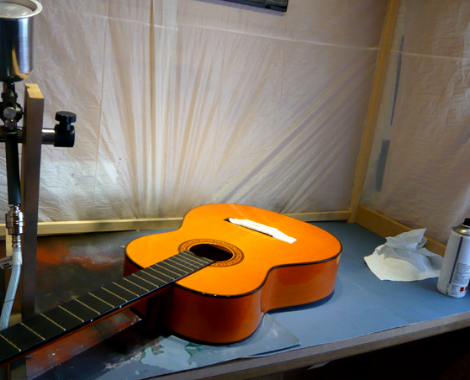 Classical guitar top repair: