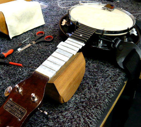 Banjo fret dress & setup: