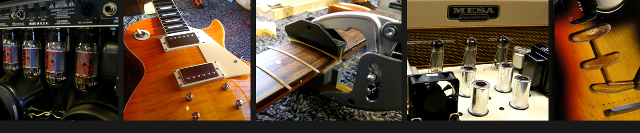 amplifier repairs to Fender twin - guitar refretting & guitar refinishing