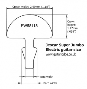 Jumbo fret dimensions for Jescar super Jumbo size
