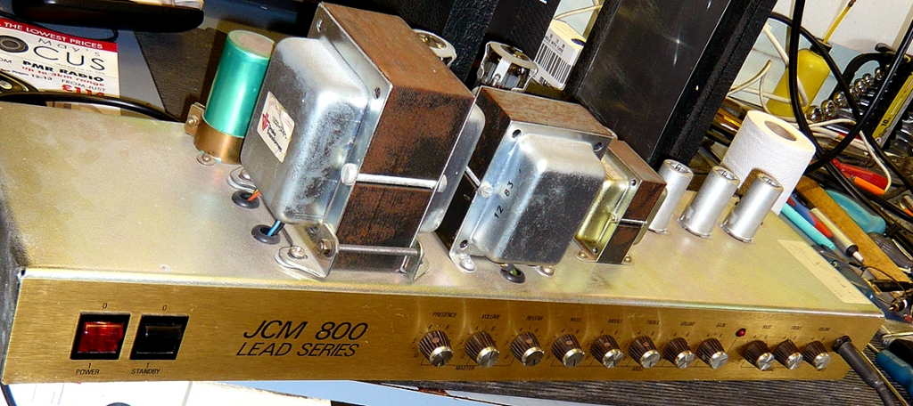 Amplifier repairs on Marshall JCM800 valve amplifier: final stage testing