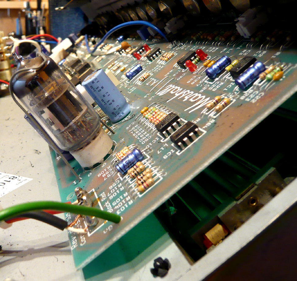 Amplifier Repair Uk Restoration Rebuild Guitarlodge Ipswich Electronic Circuit Board With Processor Boards Stock To Marshall Head Pcb Preamp Valve Exposed During Repairs
