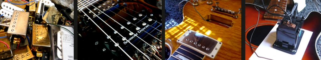 Pickups, electronic repairs & modifications: pickups, Les Paul pickup cavity & acoustic preamp system removed