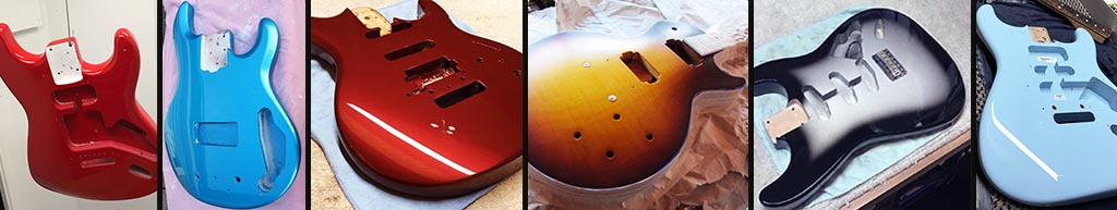 Guitar re-finishing at guitarlodge