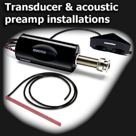 Transducer & acoustic preamp installations