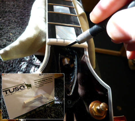Gibson Les Paul top-nut replacement:
