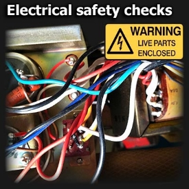Electrical safety checks on amplifiers