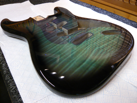 Start body re-finish in clear coat: